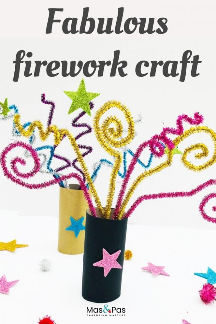 Fabulous indoor firework craft - have fun with this fun bonfire night craft for kids