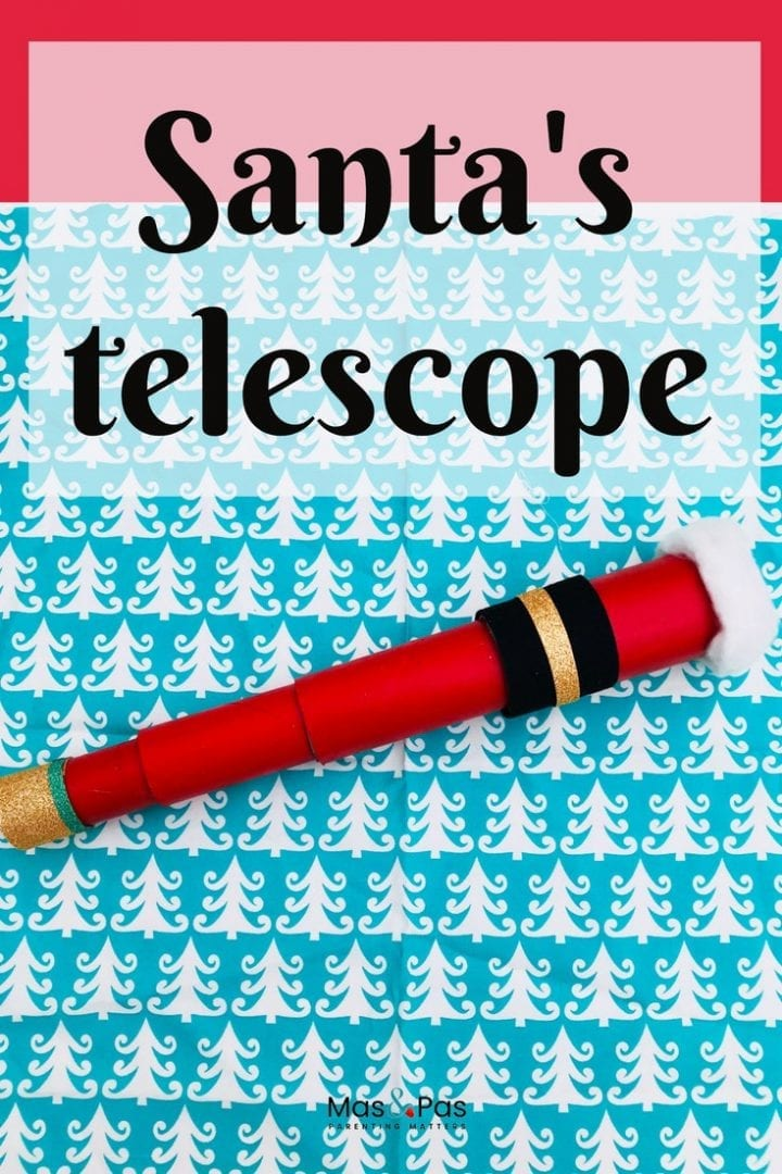 Make Santa a telescope this year with this quick and easy Christmas craft for kids