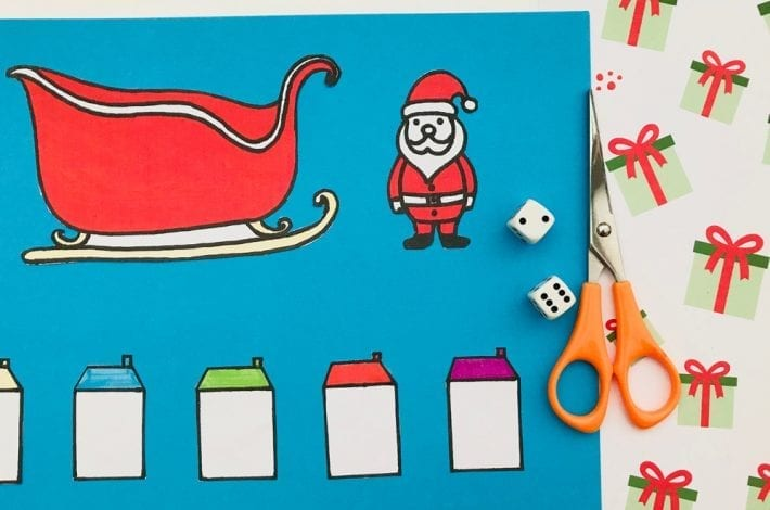 Santas Sleigh subtractions game is a fun learning activity for kids and one of our Christmas maths activities to make numbers fun again