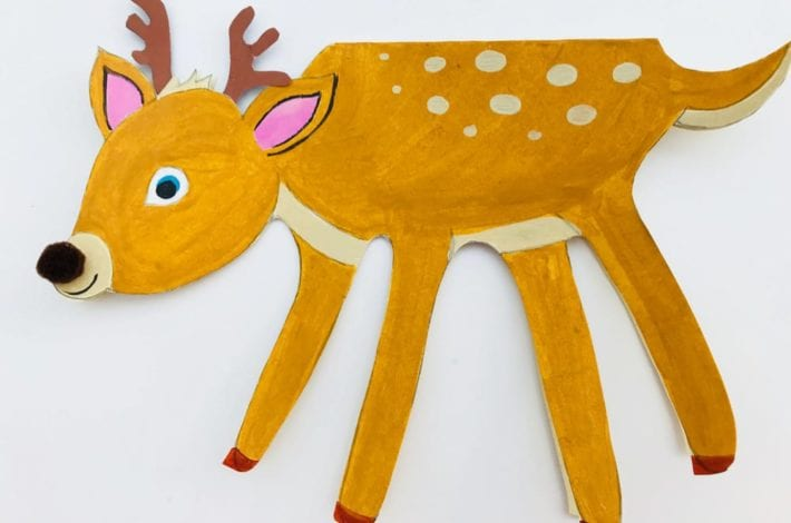 Make Christmas cards special this year by making these handprint Christmas cards in the shape of a deer or reindeer.