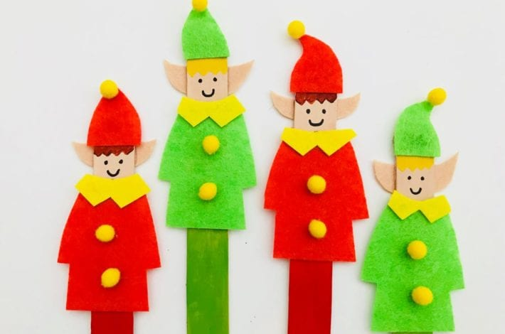 Make this popsicle stick elf craft with the kids this year for some festive crafty fun. A quick and easy activity to enjoy together this winter.