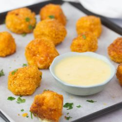 Healthy popcorn chicken bites - crispy crunchy tasty bites perfect for kids meals and parties