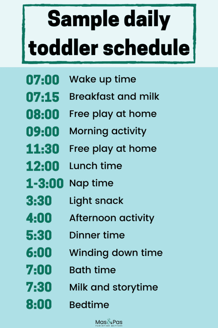 How to plan a toddler daily schedule that works for you - a toddler schedule and routine for 1 and 2 year olds