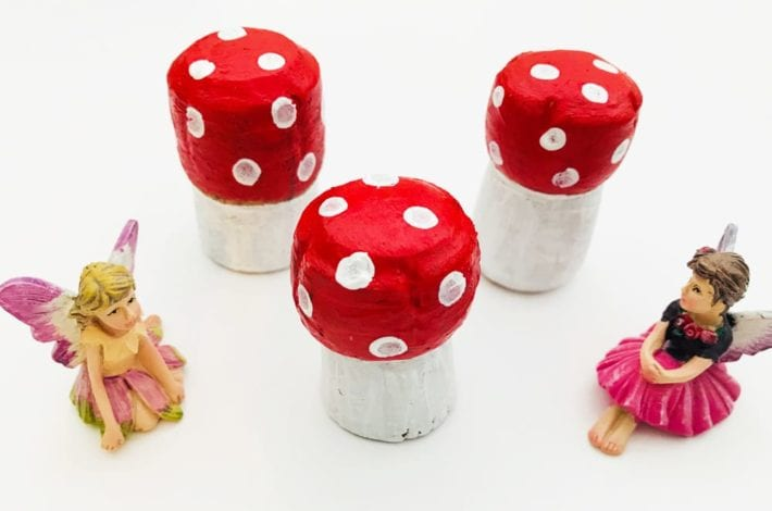 Make this magical champagne cork fairy toadstool - a fun and enchanting craft for kids