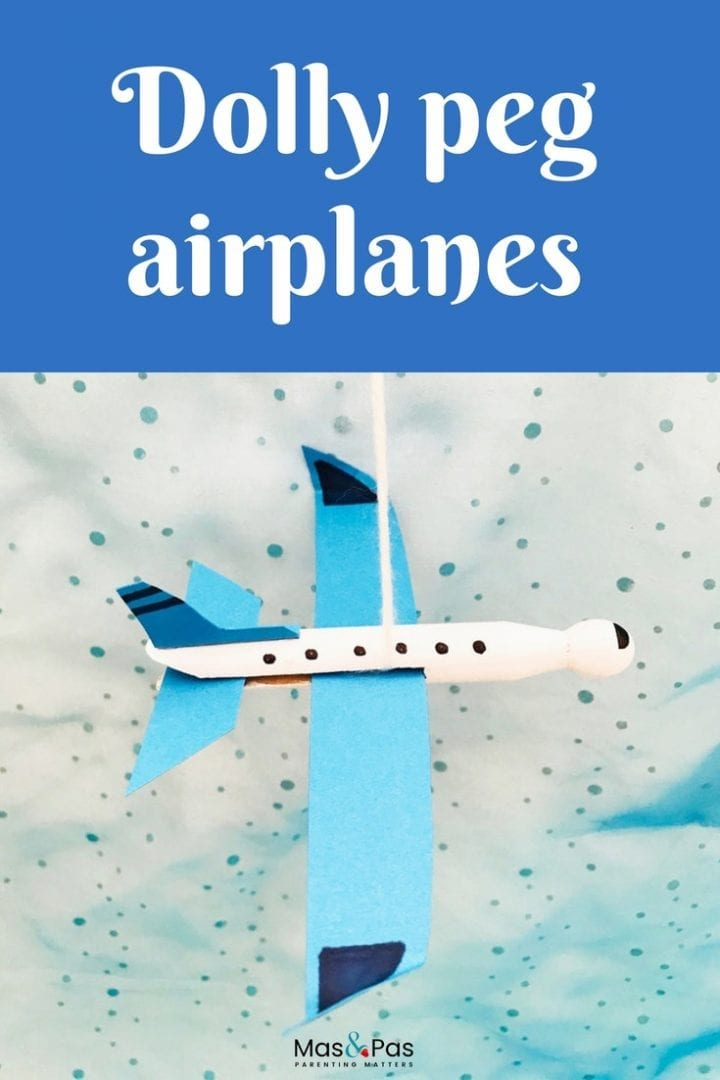 Make this stunning peg airplane craft for kids and watch your miniature DIY airplanes zoom through the skies.