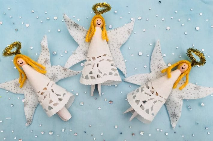 Make beautiful and festive dolly peg angels this year as a fun Christmas craft to enjoy with the kids