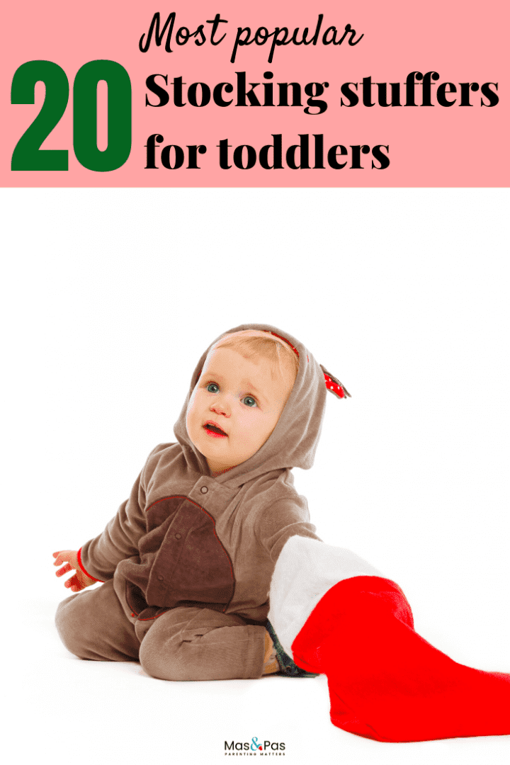 20 most popular stocking stuffers for toddlers - fill their stockings with fun toys that boost development too - PIN