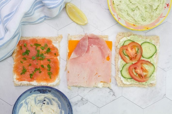 3 tasty sushi sandwiches - great kids party food or packed lunches