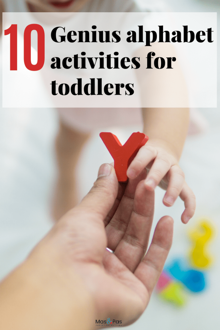 Alphabet activities for toddlers - learning first phonics and letters with games and fun activities