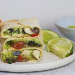 Make this Mexican chicken wrap packed full of veggies - a delicious black bean chicken wrap