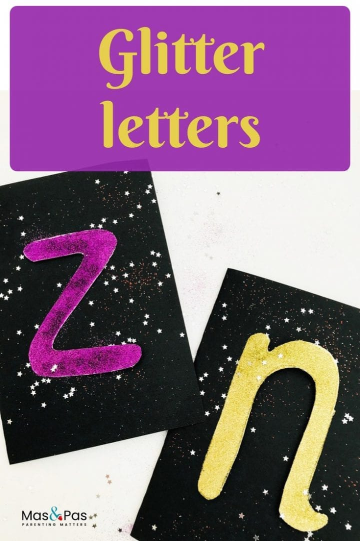 Have fun with this glittery letter activity for toddlers. Make glitter letter with this phonics fun activity