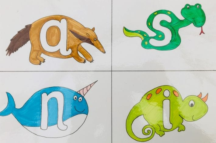 Make play dough letters using these free printable alphabet mats