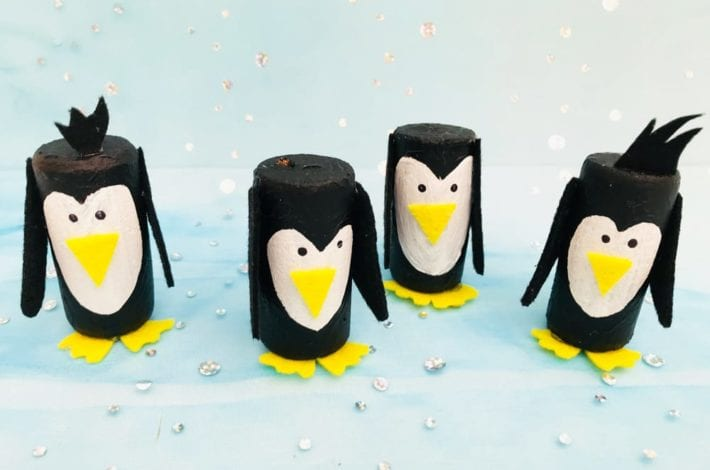 How to make cork penguins. A fun winter craft or Christmas craft for kids to enjoy.