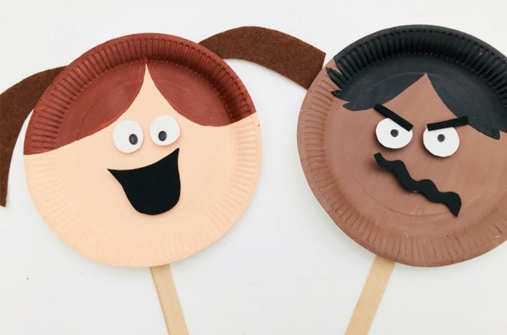 Emotions Activity with Paper Plate Faces - learn about emotions with paper plate puppet faces