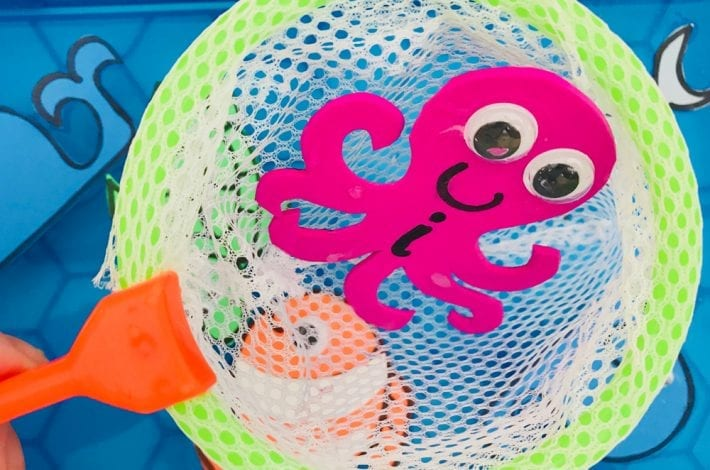 Fishing for letters with sea creature friends - learn to spell your name by learning first letters and building a word