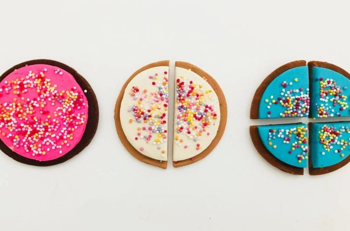 Teaching fractions with playdough cookies - great fraction activities for KS1 and KS2