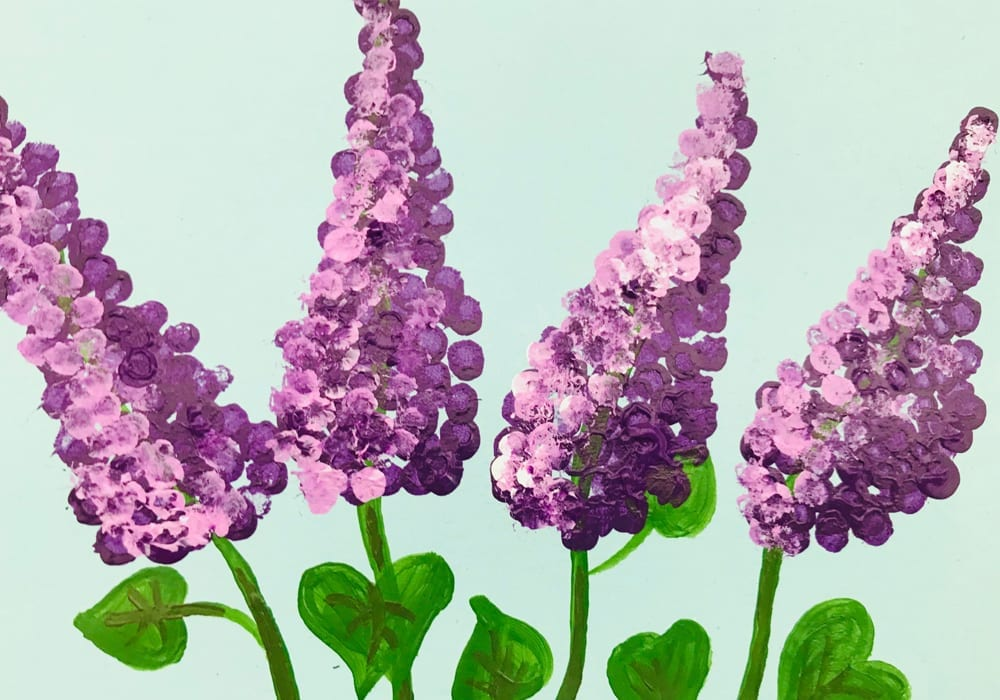 Make this beautiful cotton swab flower painting using cotton swab prints - a fun kids craft or beautiful DIY mother's day card