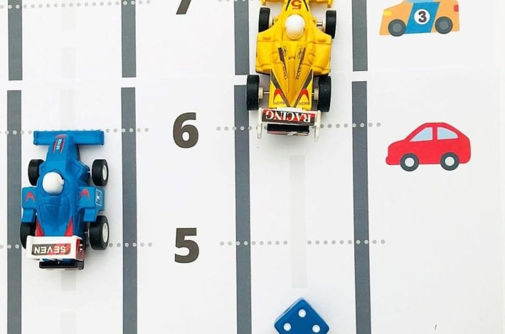Play this race car addition game and learn first number bonds to 12 with this playtime learning activity