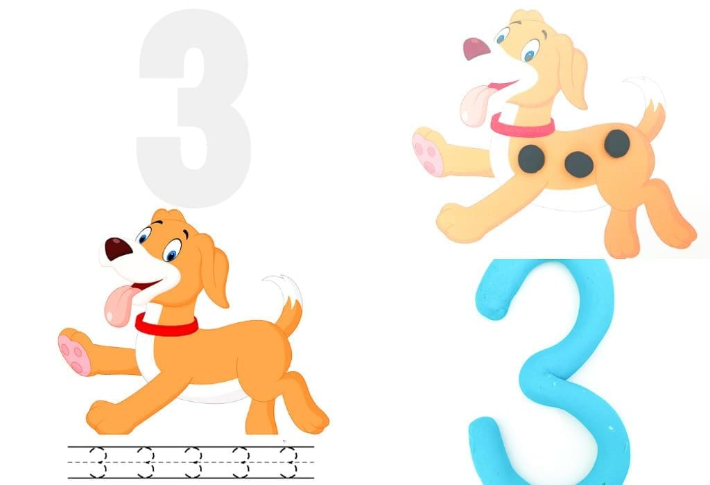 Teaching numbers to toddlers with these number playdough mats - learn first numbers and numeracy skills with numbers to 10