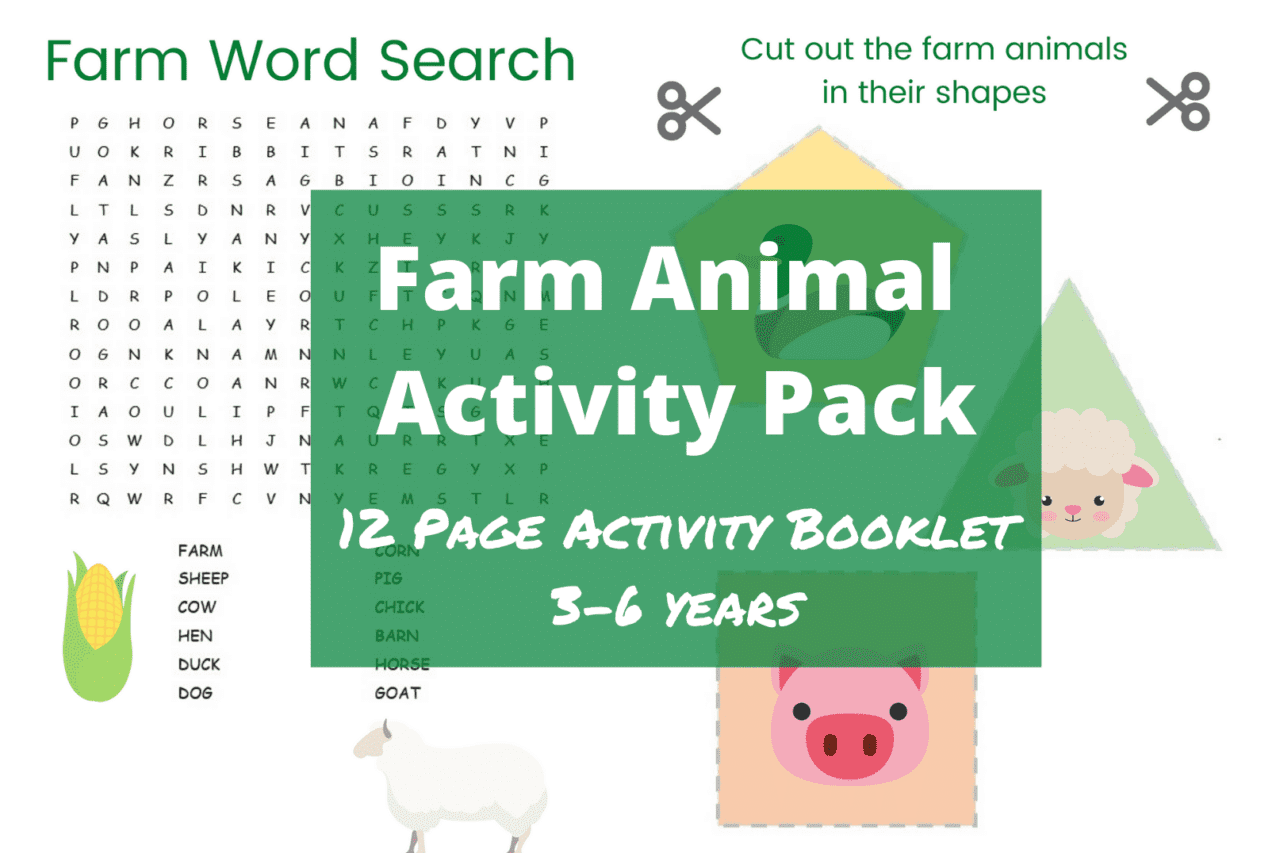 Farm Animal Printable - Free Activity Pack for Preschoolers with free printable downloads - learn about the farm