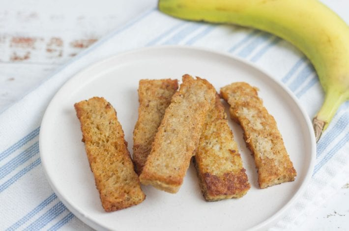 French toast for baby - baby led weaning breakfast recipes - banana french toast - vegan french toast - dairy free french toast