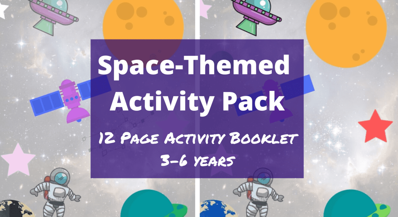 Space themes activity pack with free worksheets for 3-6 year olds