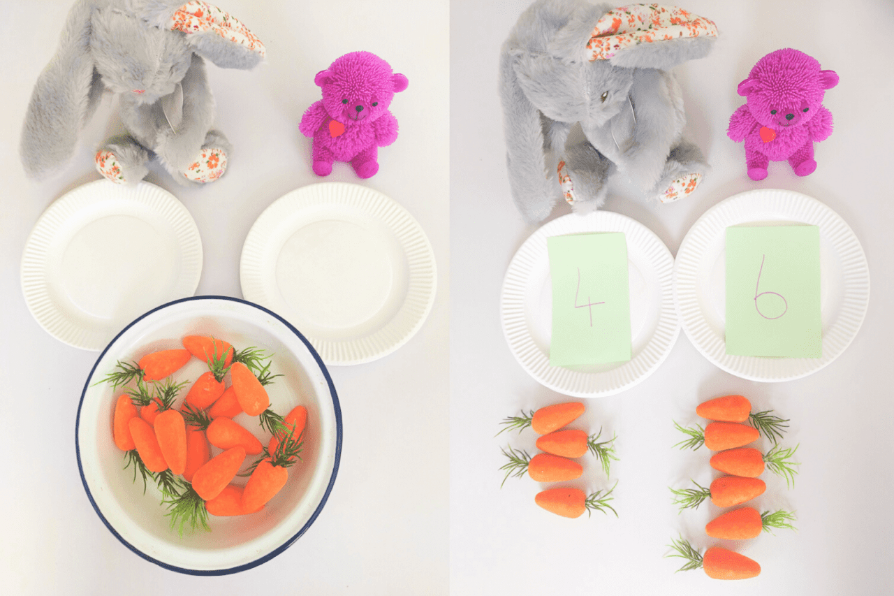 Teddy Bear's Picnic Numeracy Activity - learn numeracy activities like number bonds addition and sharing through this group activity