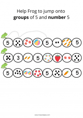 Count and write worksheet - learn first numbers activity pack