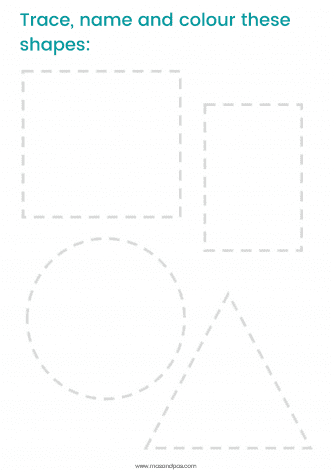 2D Shapes Activity Pack - Free printable downloads - learn about 2D shapes