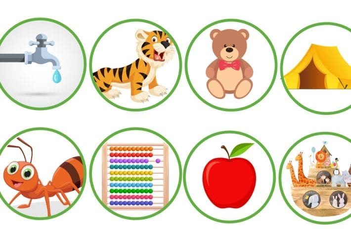 caterpillar phonics game - learning initial sounds