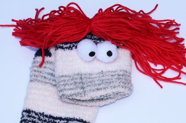 no sew sock puppets - how to make your own diy puppets - kids can play with these homemade hand puppets