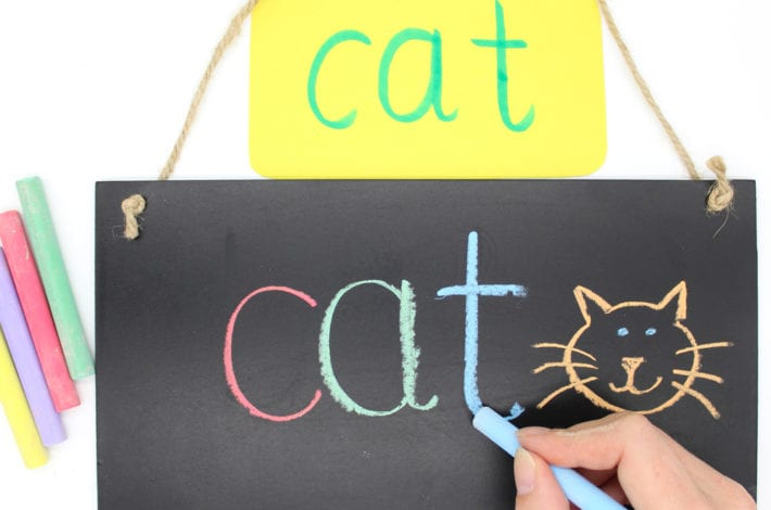Painting Letters with Water - Letter Formation Activity - chalk letter writing - wipe off letter activity