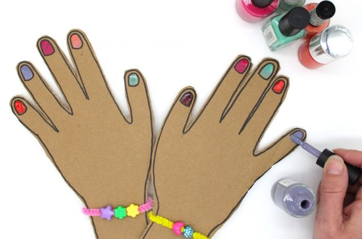 Pretend nail salon - let kids enjoy pretend play with this DIY nail salon for kids - a great indoor activity for kids and they can have fun painting nails