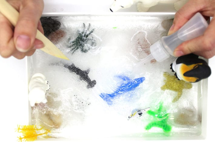 ice excavation activity - ocean animal rescue activity for toddlers and kids - fun kids activities