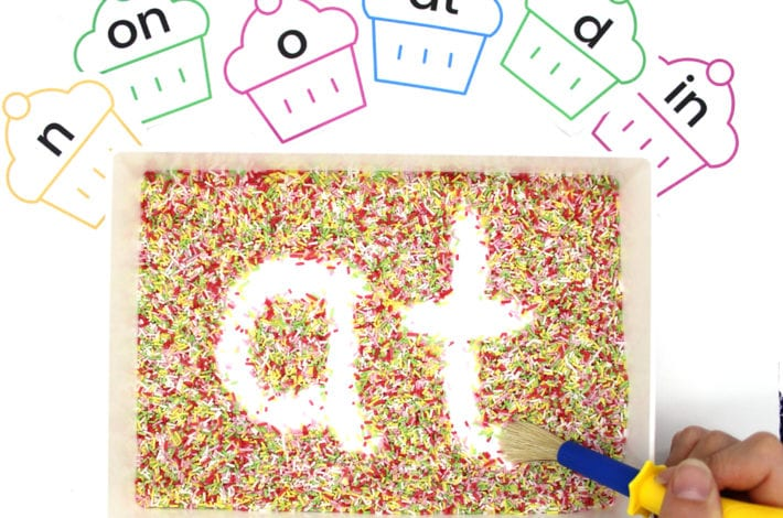 Rainbow Sprinkle Letters - Montessori Writing Tray