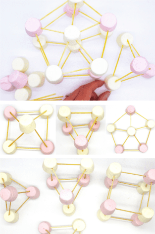 Marshmallow toothpick challenge - marshmallow stem activities - marshmallow structures