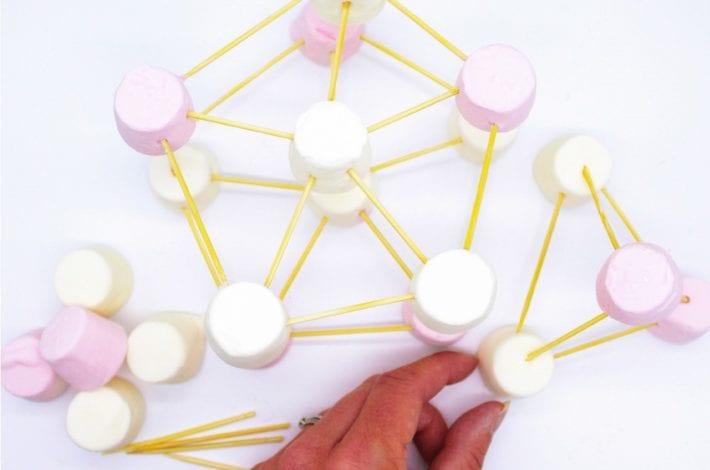 Marshmallow toothpick challenge - marshmallow stem activities - marshmallow towers