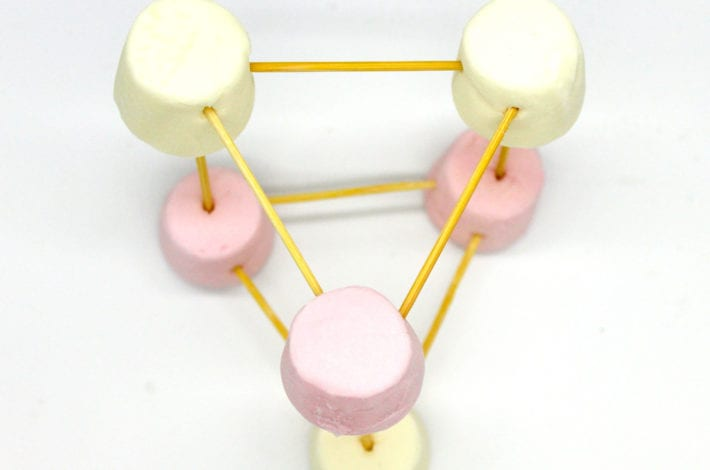 Marshmallow toothpick challenge - marshmallow stem activities - marshmallow towers