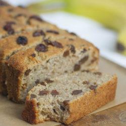 Quinoa flour banana bread - healthy snacks and desserts for kids and family - easy healthy banana bread