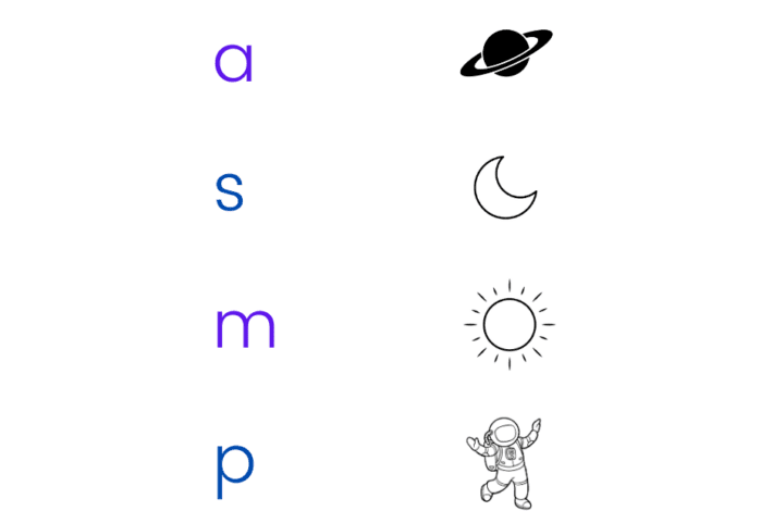 Space Activity Pack - initial sounds