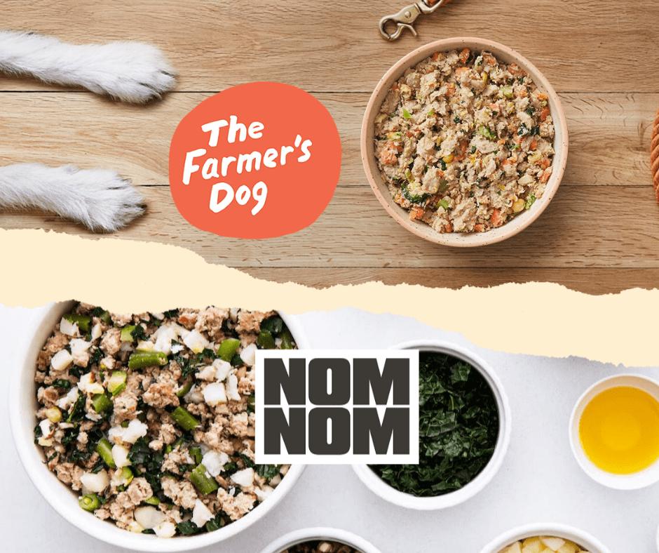Nom nom now versus farmers dog review - best fresh dog food delivery services - human grade dog food