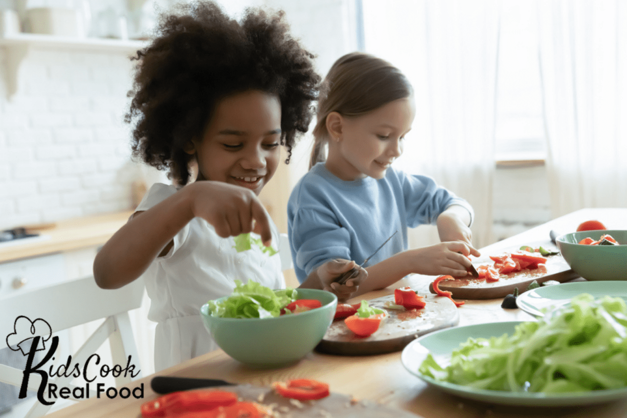 Kids cook real food ecourse review - parent child cooking classes