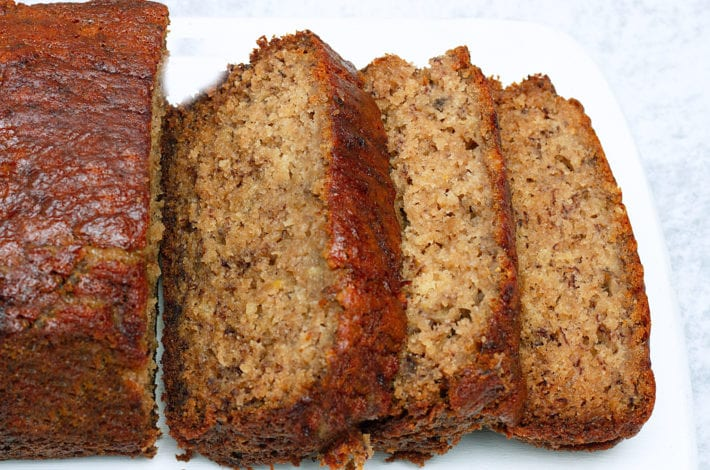 Best banana bread ever - one bowl banana bread - healthy banana bread