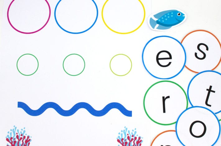 Learn to blend - phonics game with fish - fun with phonics