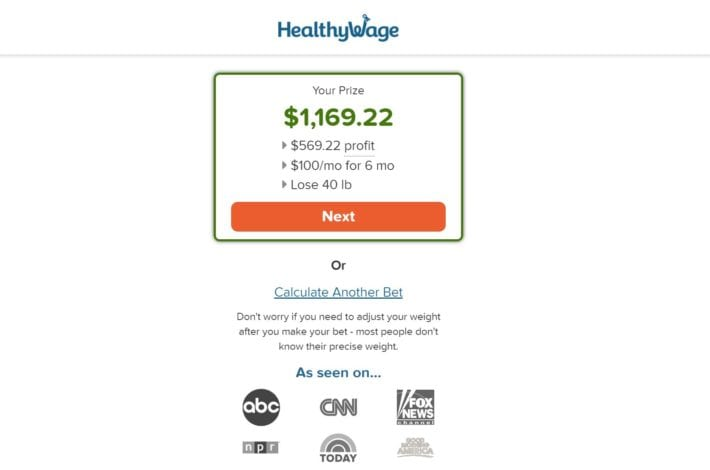 Healthywage review - best weight wager - get paid to lose weight