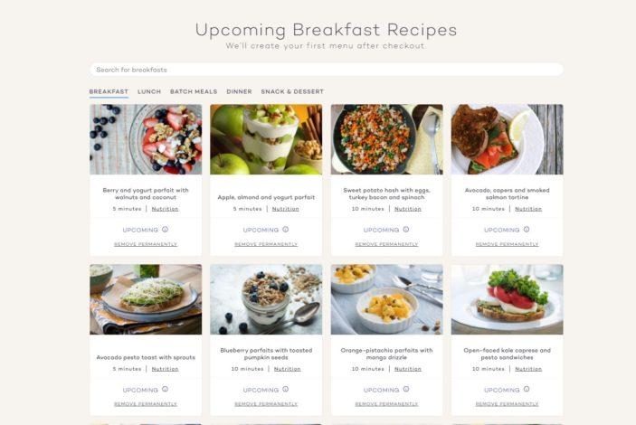 Platejoy Review - Breakfasts