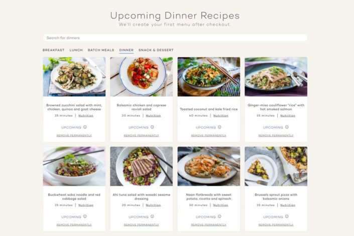 Platejoy Review - Dinners