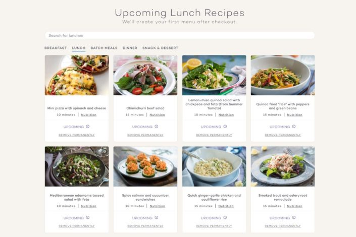 Platejoy Review - Lunch Recipes