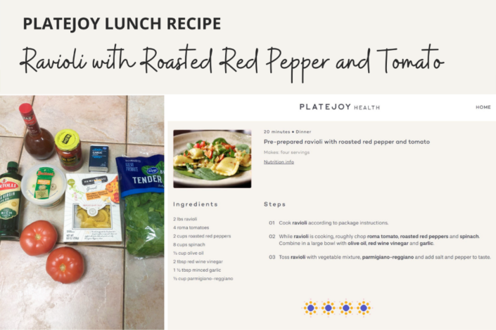 Platejoy Review - Platejoy Lunch Recipes - Ravioli