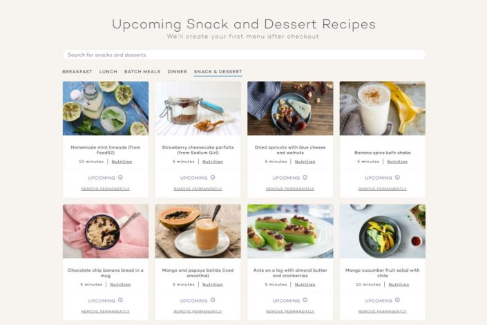 Platejoy Review - Snack and Dessert